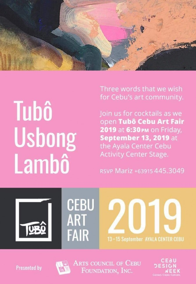 Tubô Cebu Art Fairのお知らせ